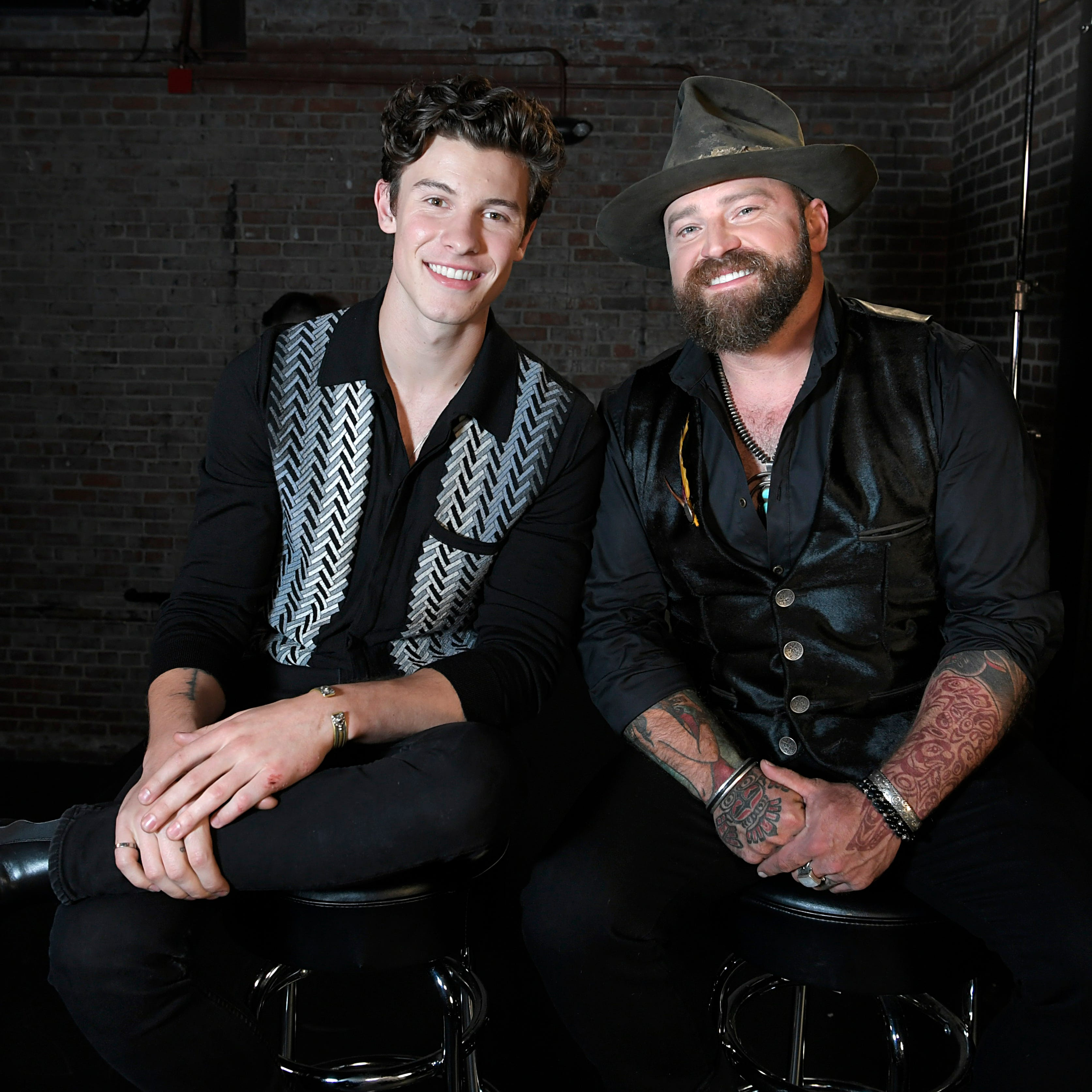 Shawn Mendes and Zac Brown at their CMT...