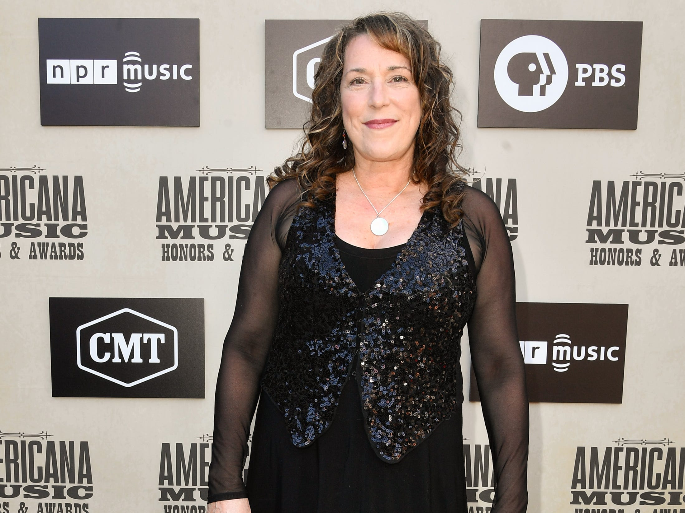 Beth Nielsen Chapman poses on the red carpet before the 2018 Americana Honors and Awards show at the Ryman Auditorium in Nashville, Tenn., Wednesday, Sept. 12, 2018.