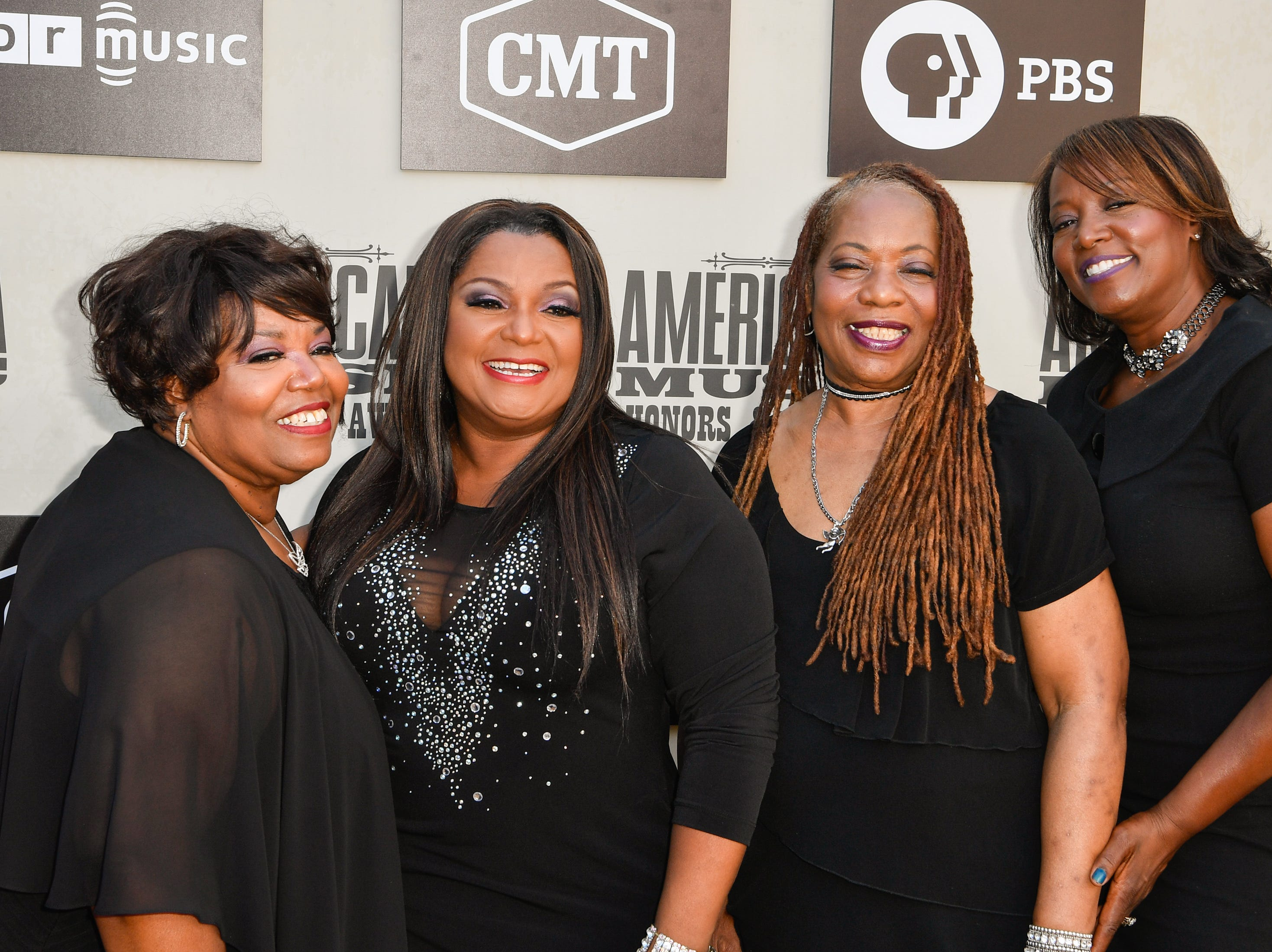 The McCrary Sisters pose on the red carpet before the 2018 Americana Honors and Awards show at the Ryman Auditorium in Nashville, Tenn., Wednesday, Sept. 12, 2018.