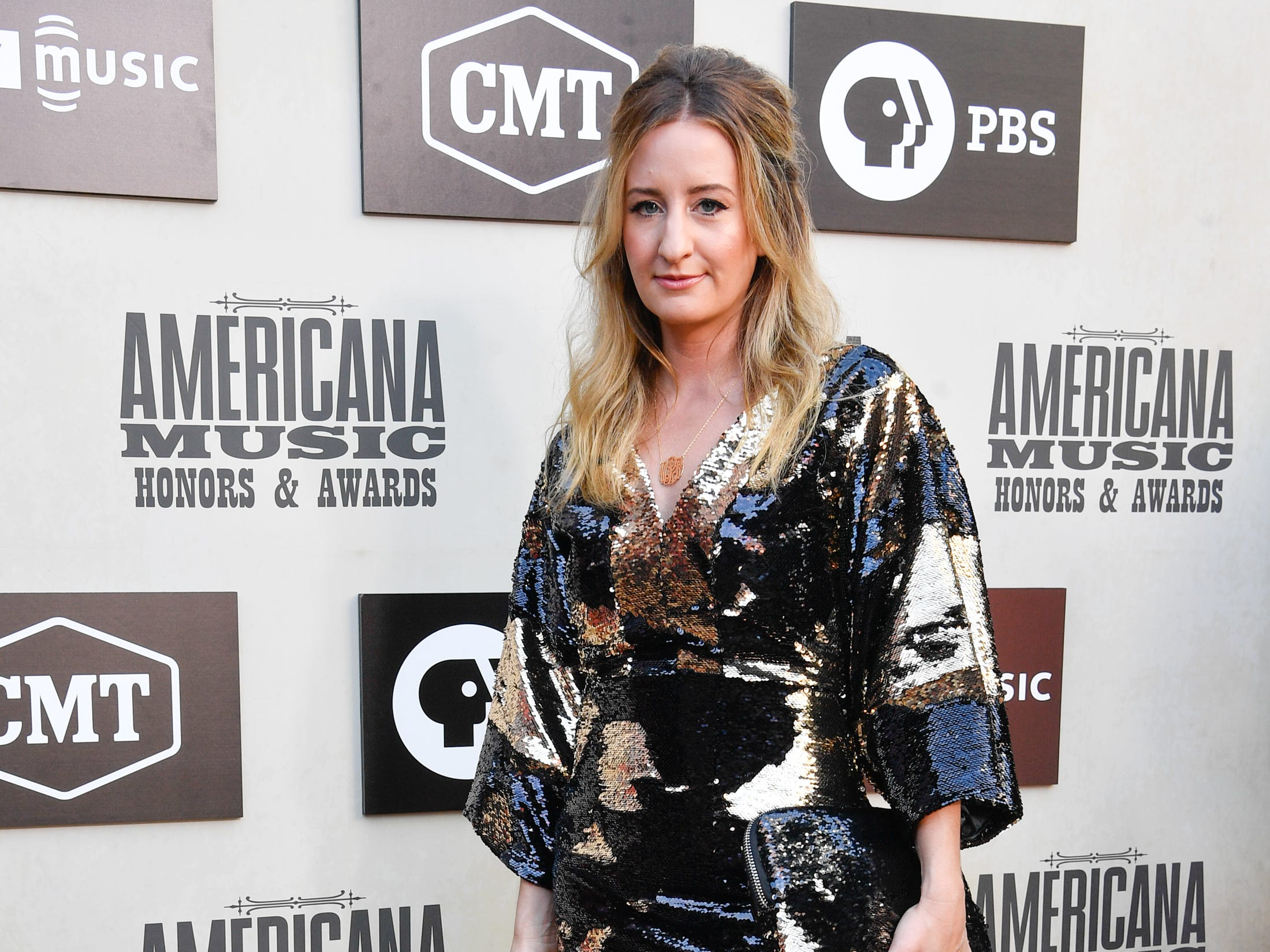Margo Price poses on the red carpet before the 2018 Americana Honors and Awards show at the Ryman Auditorium in Nashville, Tenn., Wednesday, Sept. 12, 2018.