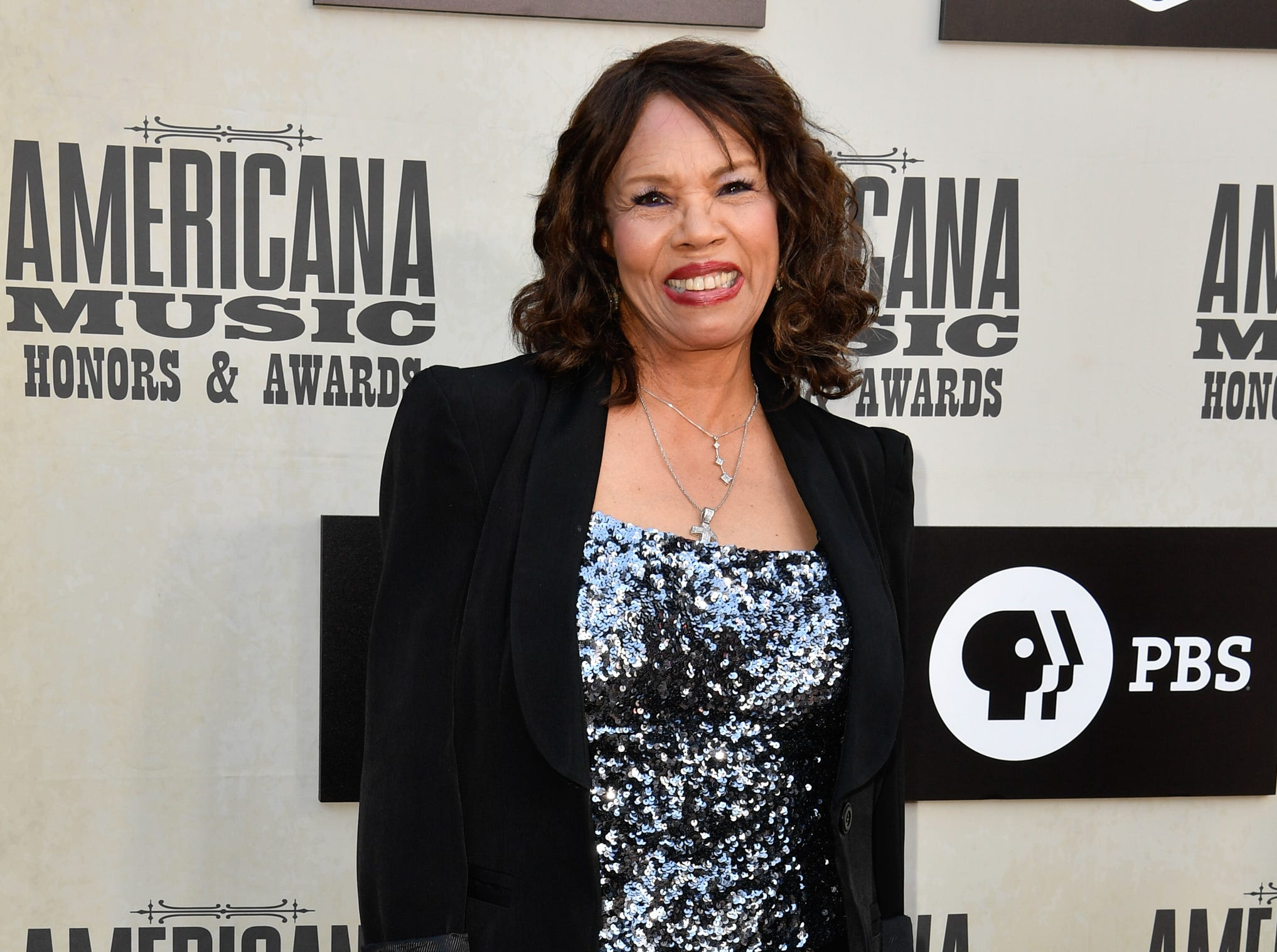 Candi Staton poses on the red carpet before the 2018 Americana Honors and Awards show at the Ryman Auditorium in Nashville, Tenn., Wednesday, Sept. 12, 2018.