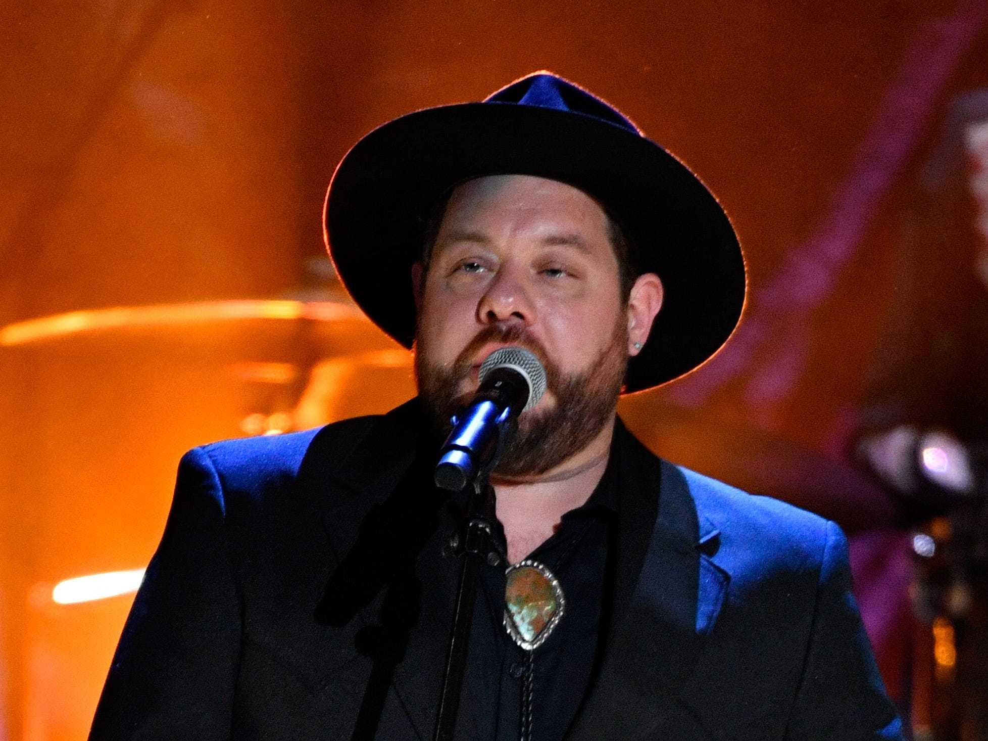 Nathaniel Rateliff performs during the 2018 Americana Honors and Awards show at the Ryman Auditorium in Nashville, Tenn., Wednesday, Sept. 12, 2018.