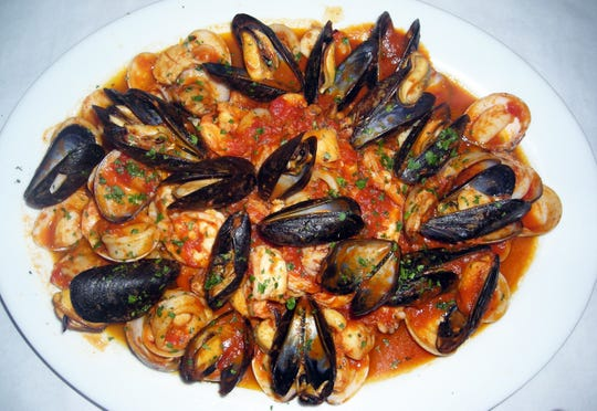 Zuppa di Pesce for two is one of the most popular dishes at Cirella's Italian Bistro and Sushi Bar.