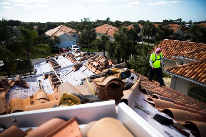 Southwest Florida roofing companies are doing about 10 times the normal number of jobs following Hurricane Irma.