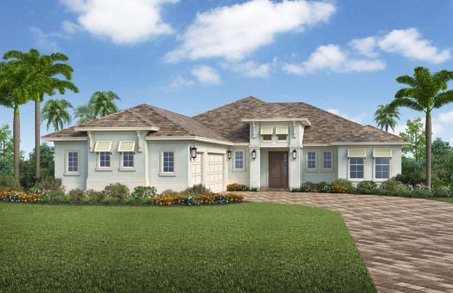 The Wisteria design will be available in Stock's new Canoe Landing neighborhood at Naples Reserve.