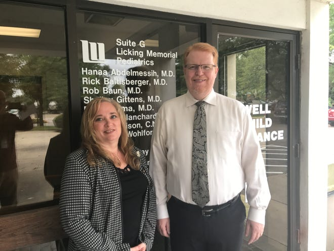Julia Holtz, Licking Memorial Health Systems quality manager/student coordinator, and Dr. Rob Baun head LMH's sports screening program, which includes the Heart to Play initiative, aimed at identifying student-athletes at higher risk for cardiac arrest.