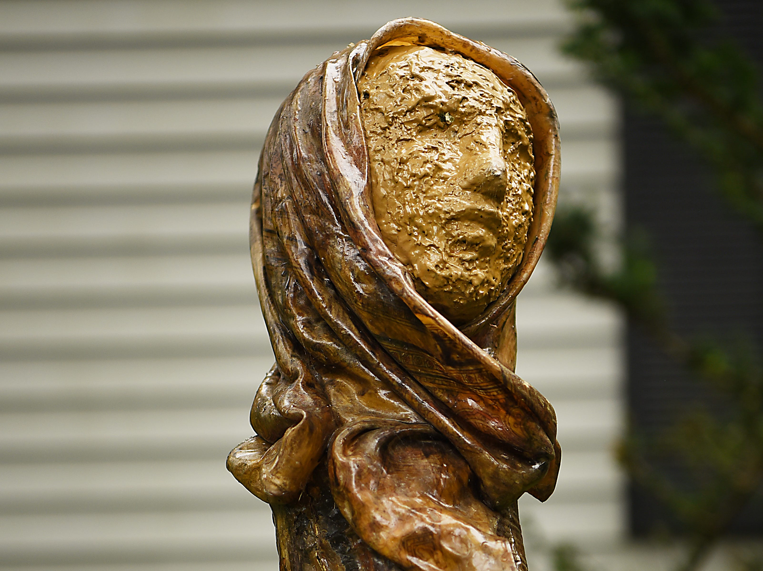 A sculpture by Judith Peck shown at her home in Mahwah on Wednesday September 12, 2018.
