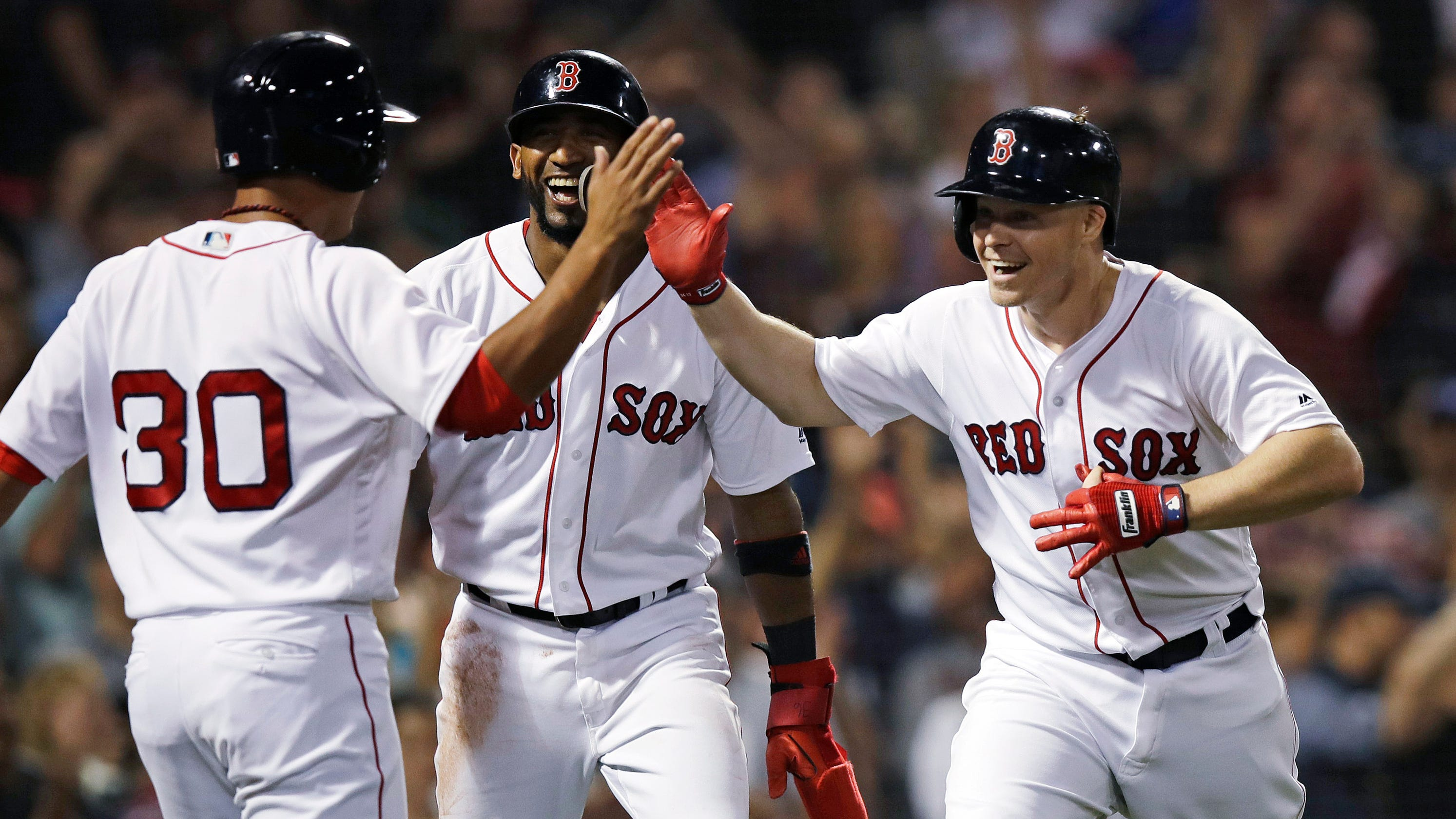 more photos 17eab c49bb Boston Red Sox become first MLB team to clinch playoff spot