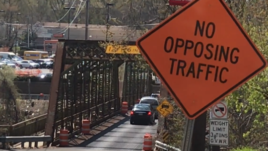 The Fair Lawn Avenue bridge will remain one-way until an 18-month rebuilding project begins next spring.