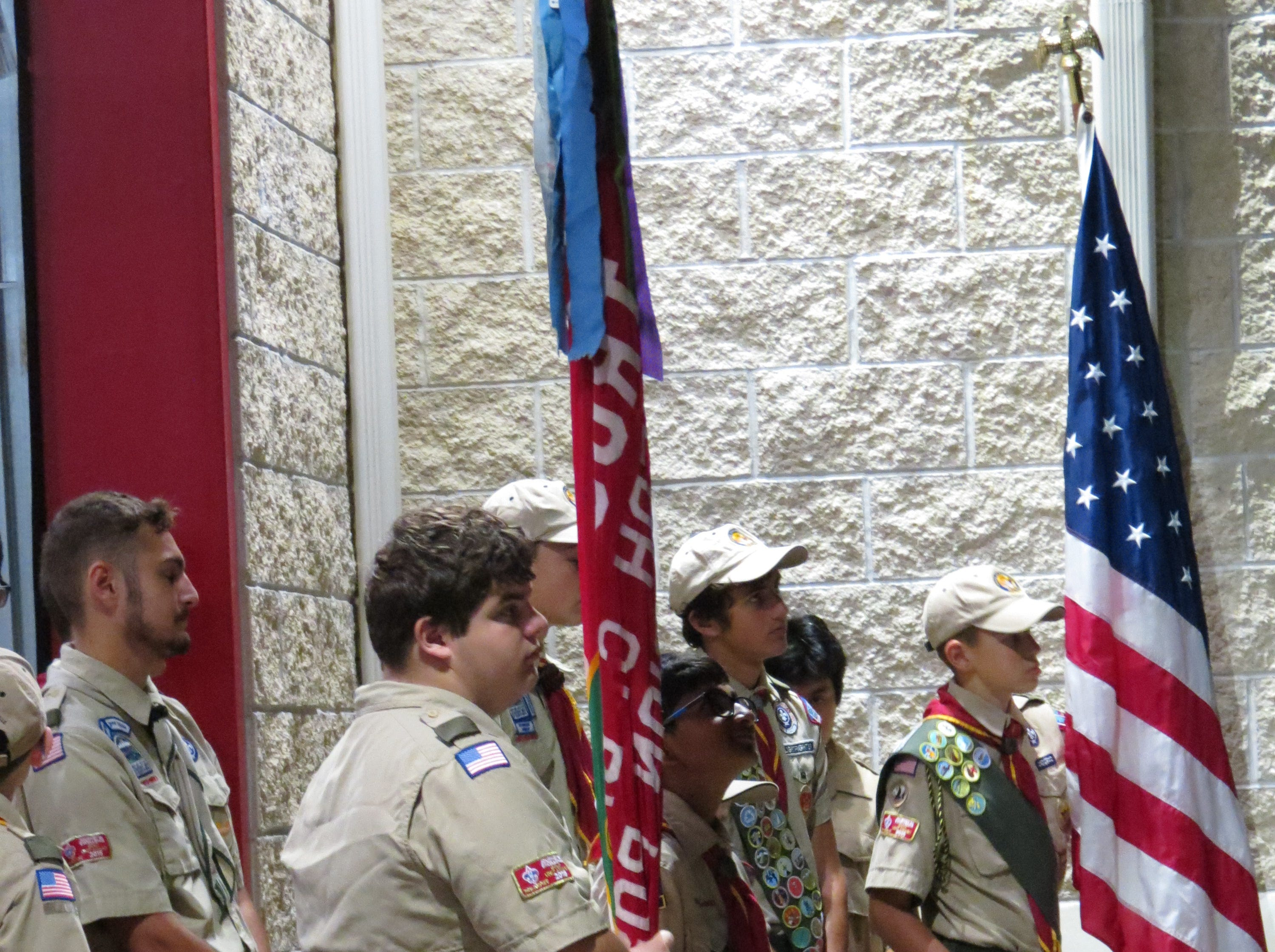 Boy Scouts from Montvale participated in the borough's 9/11 ceremony on Tuesday, Sept. 11, 2018.
