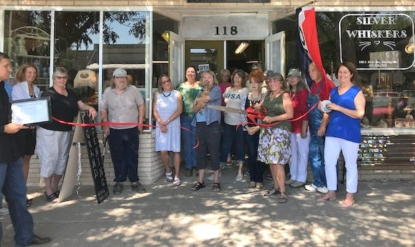 The Deming-Luna County Chamber of Commerce recently held a ribbon-cutting ceremony in front of Silver Whiskers Thrift Store at 118 S. Silver Avenue in the historic downtown business district. The thrift store operates as a fundraising tool for the Deming Animal Guardians to promotethe spay and neuter program for Deming and Luna County. The store is open from11 a.m. to 6 p.m. Monday, Tuesday, Thursday and Friday. Call575-545-7205 for more information.