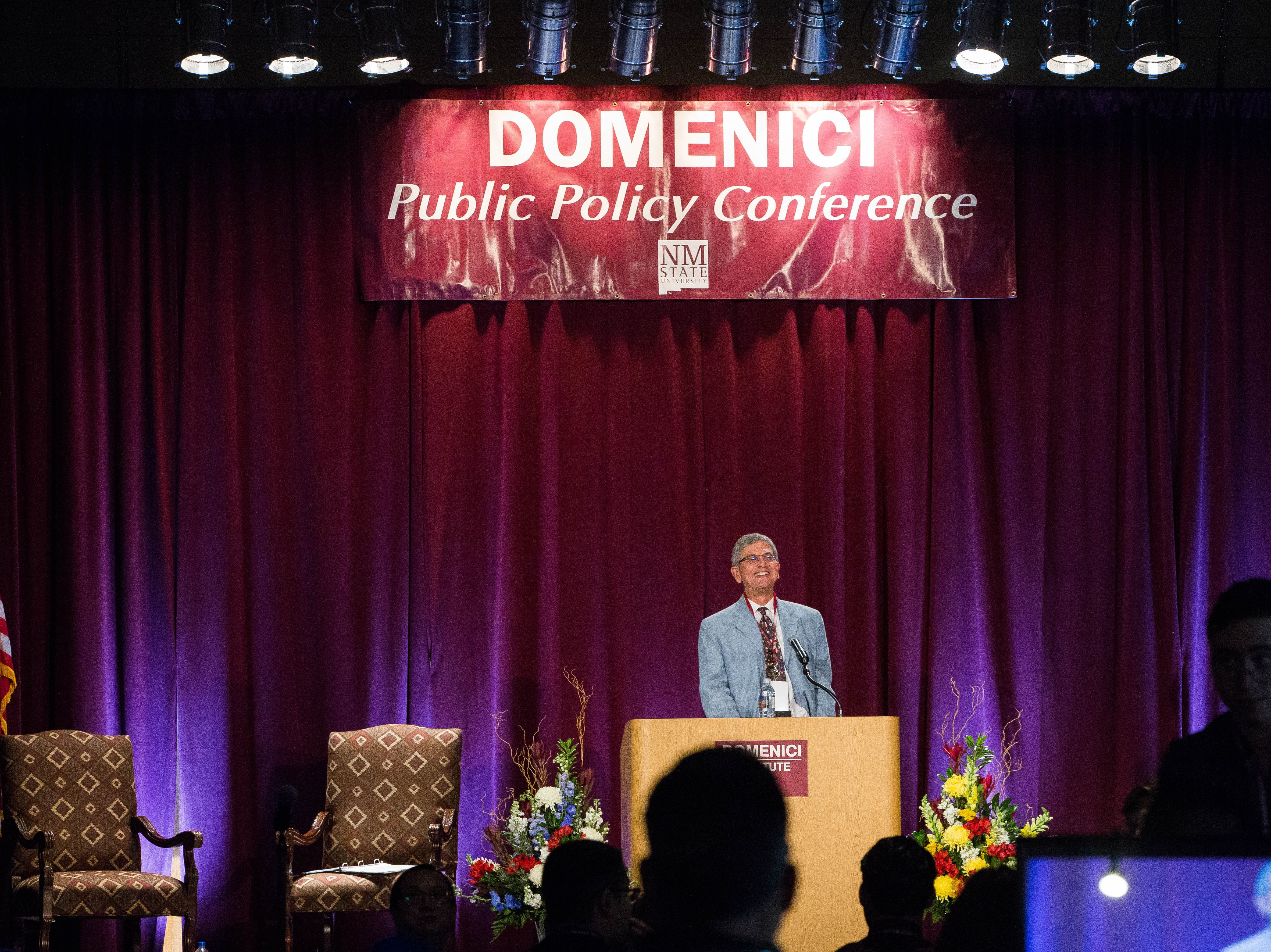 Edward Schumacher-Matos, director of the Edward R. Murrow Center, addresses disunity in the country and warned that the American experiment might not last during the first day of the 2018 Domenici Public Policy Conference. Wednesday, Sept. 12, 2018 at the Las Cruces Convention Center.