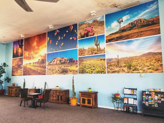 The lobby of the Big Chile Inn, 2160 W. Picacho Ave.
