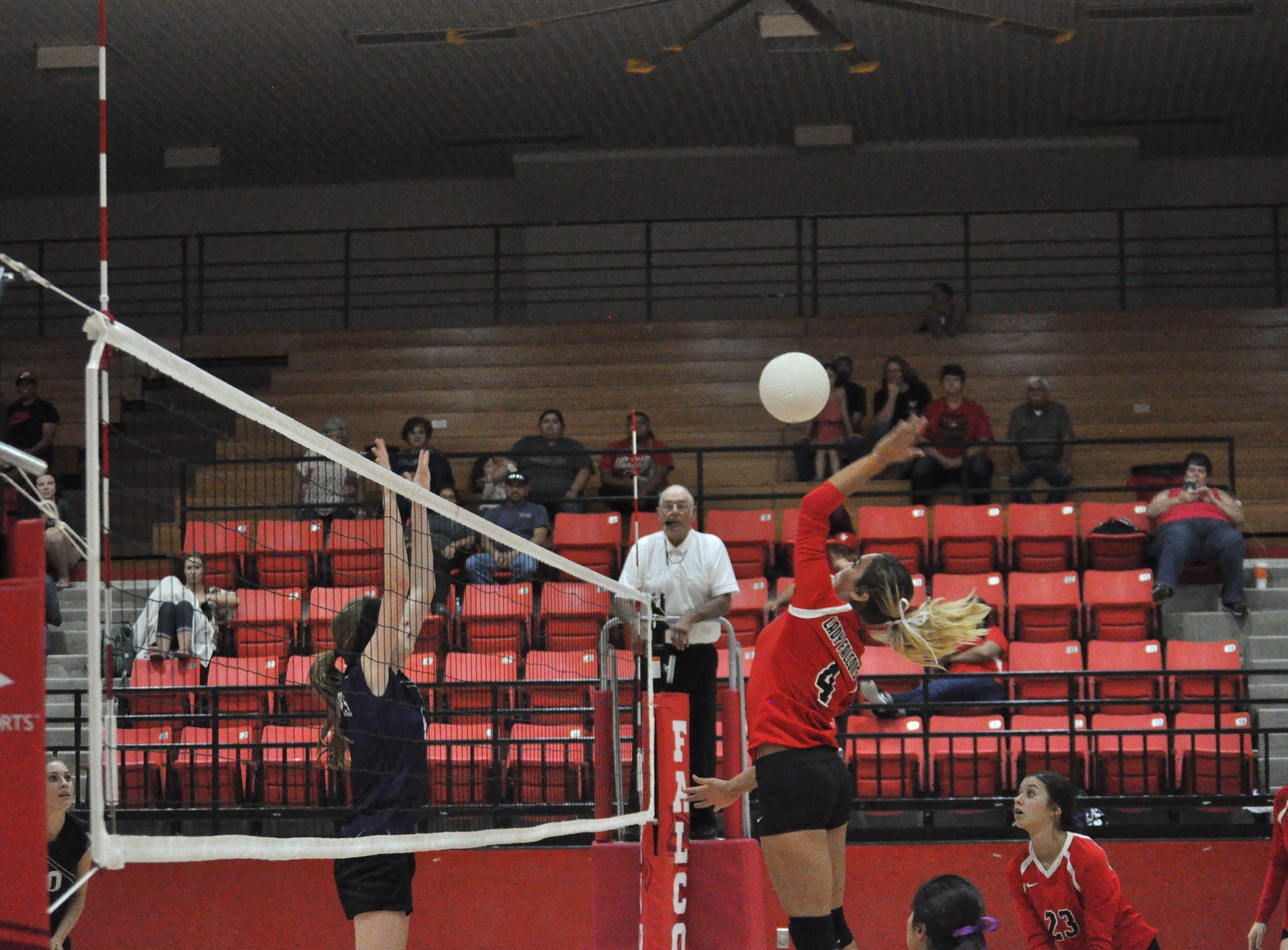 Lady Falcons won a straight set match against Gateway Christian Warriors Sep. 11.