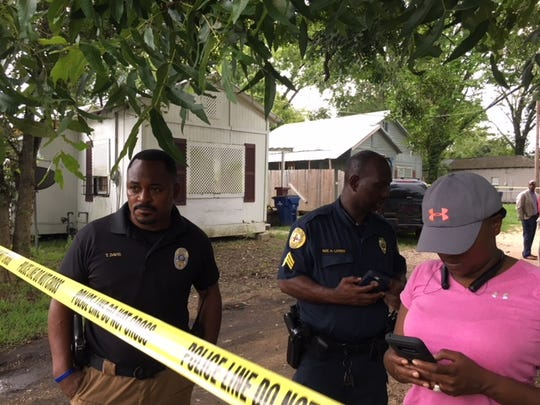 Authorities investigate a Hirsch Alley home in Opelousas where possible human remains were found Wednesday. The family of Erica Nicole Hunt arrived on the scene to talk with investigators. Hunt went missing July 4, 2016, and has not been seen since.