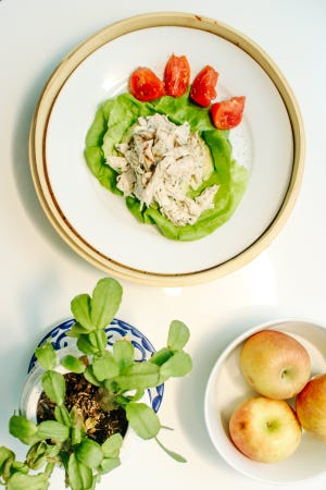 Chef Gabriel Woo's avocado chicken salad at Holiday House in Palm Springs