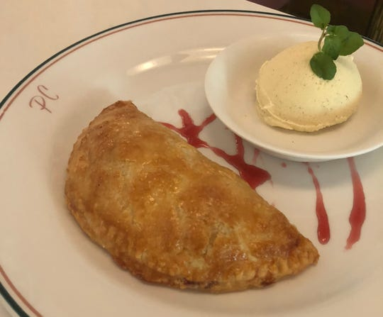 Summer fruit hand pie at Pink Cabana restaurant in the Sands Hotel & Spa
