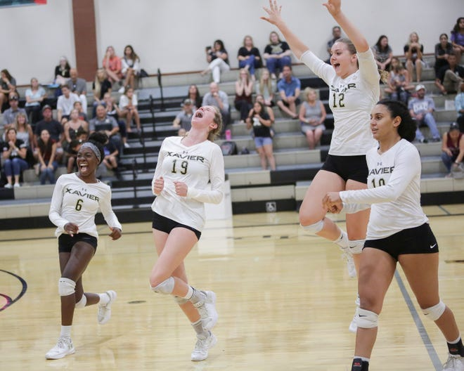 A pair of Xavier Prep volleyball stars, Sophia Callan (19) and Taylor Schein (12), were named to the Division 4 All-CIF team.