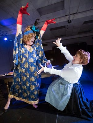 """Paxton McCaghren and Leslee Young portray two rivals in Pensacola Little Theatre's adaptation of Tennessee Williams' play """"Will Mr. Merriwether Return From Memphis?"""""""
