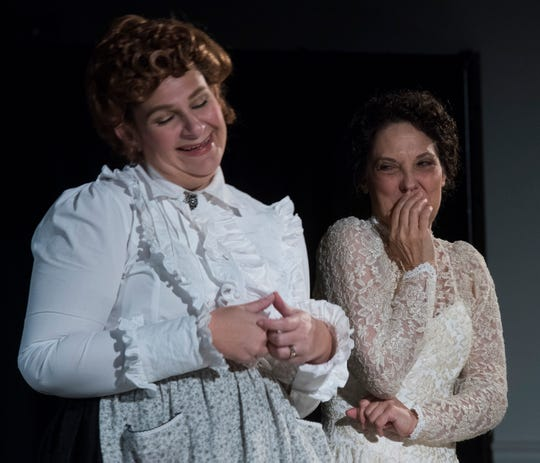 "Leslee Young and Laura Sebastian portray ""Nora,"" and ""Louise""  in the Pensacola Little Theatre's adaptation of Tennessee Williams play ""Will Mr. Merriwether Return from Memphis."""