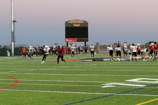 OUAZ practices on Tuesday night in Surprise on Sept. 11, 2018.