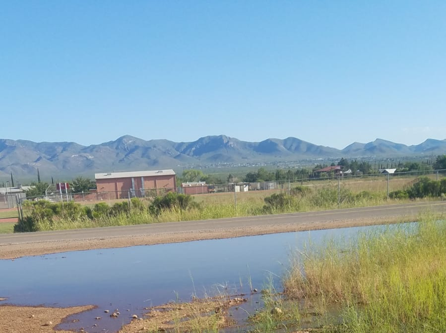 Sewage spilled from Naco, Sonora, to Naco, Arizona, in September 2018.