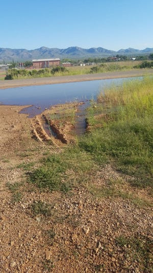 Sewage spilled from Naco, Sonora, to Naco, Arizona, in September 2018.