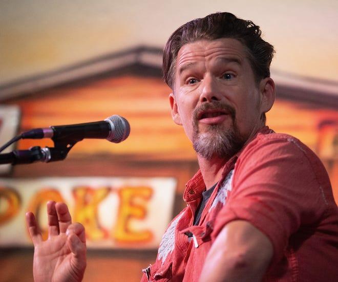 "Ethan Hawke promotes ""Blaze"" on Aug. 12, 2018, in Houston."