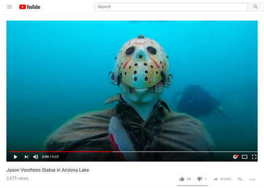 Jason Voorhees statue youtube