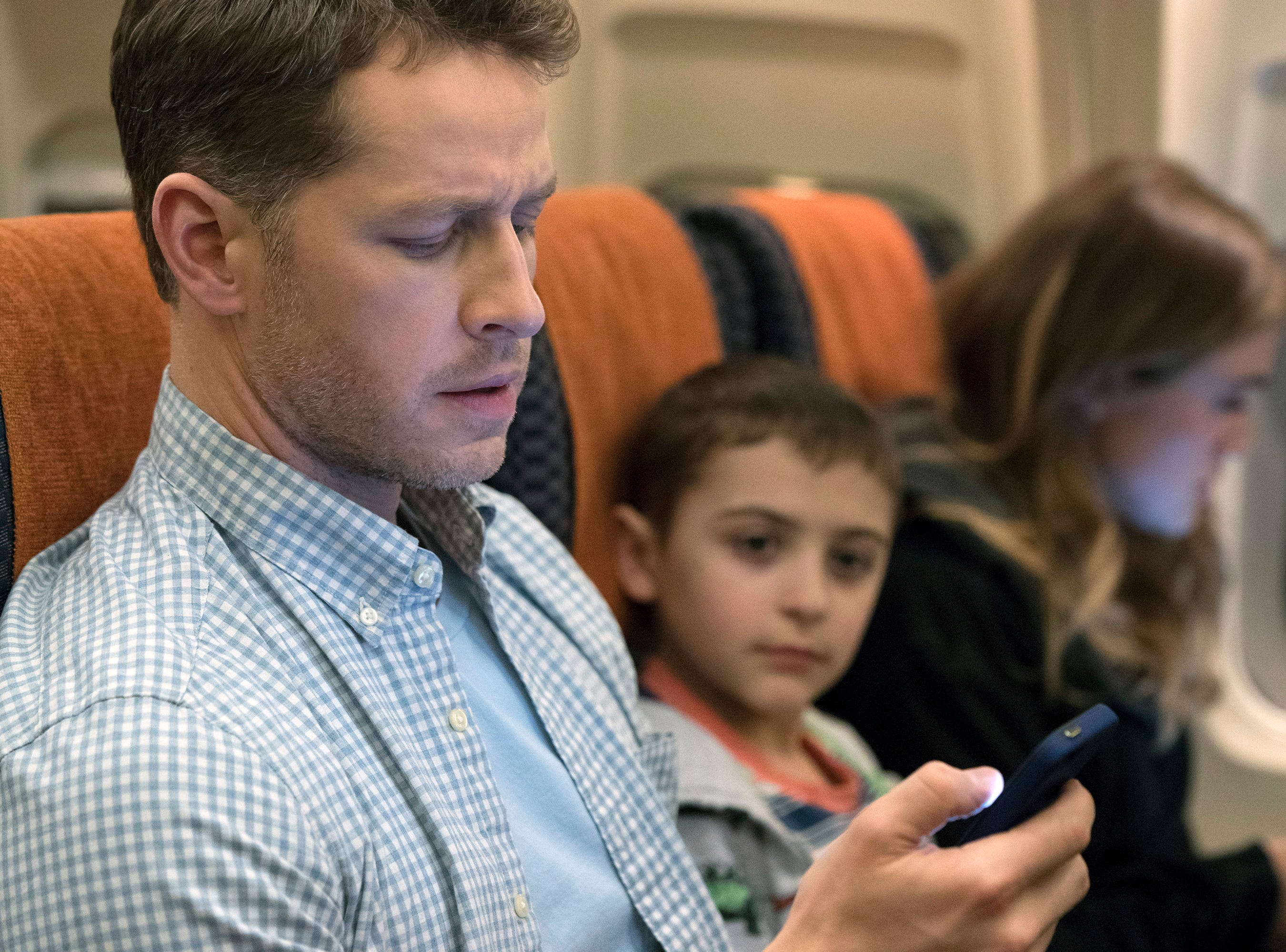 "In ""Manifest,"" Ben (Josh Dallas) is about to have a very turbulent flight."