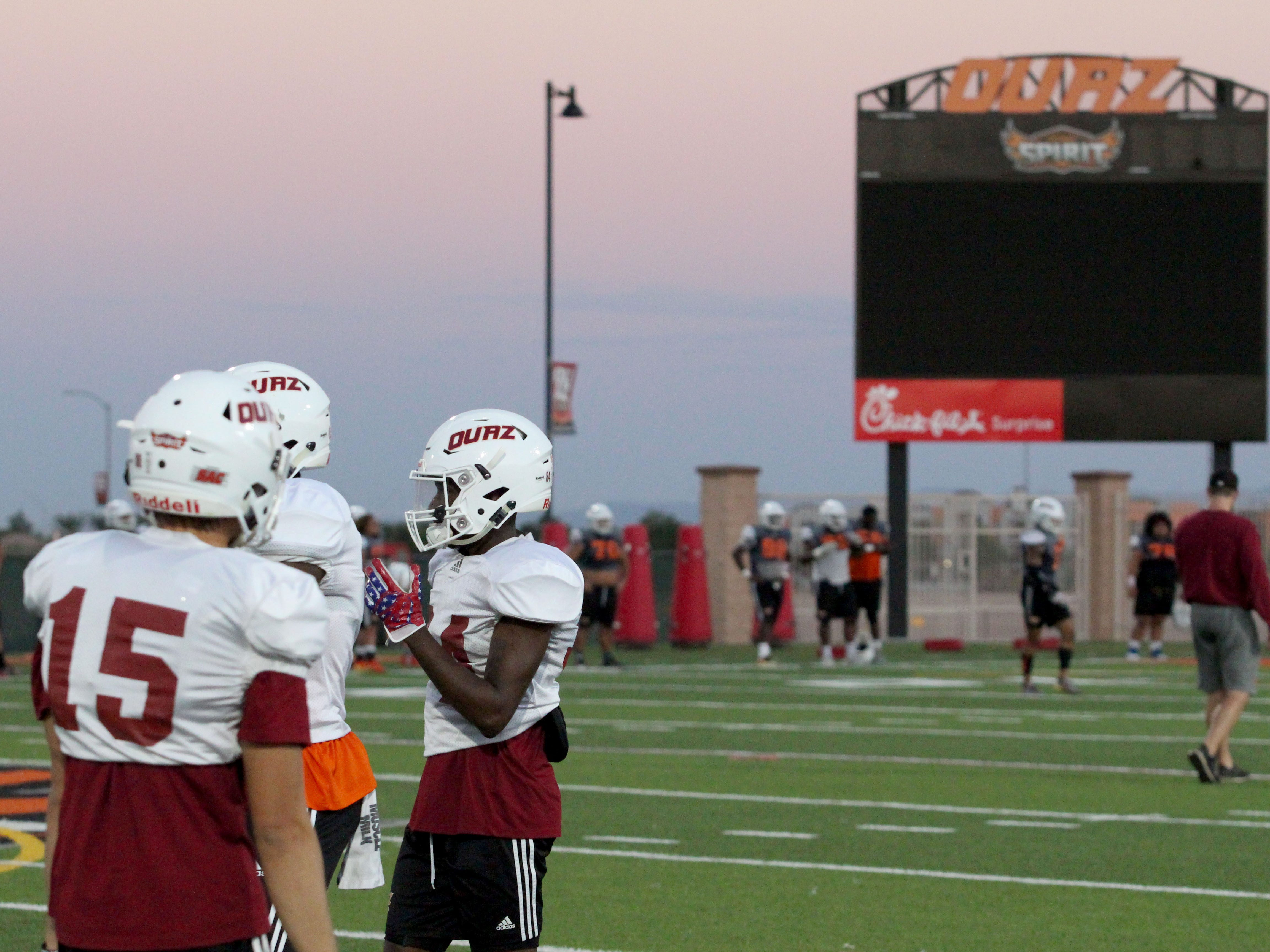 OUAZ players practice on Tuesday night in Surprise on Sept. 11, 2018.