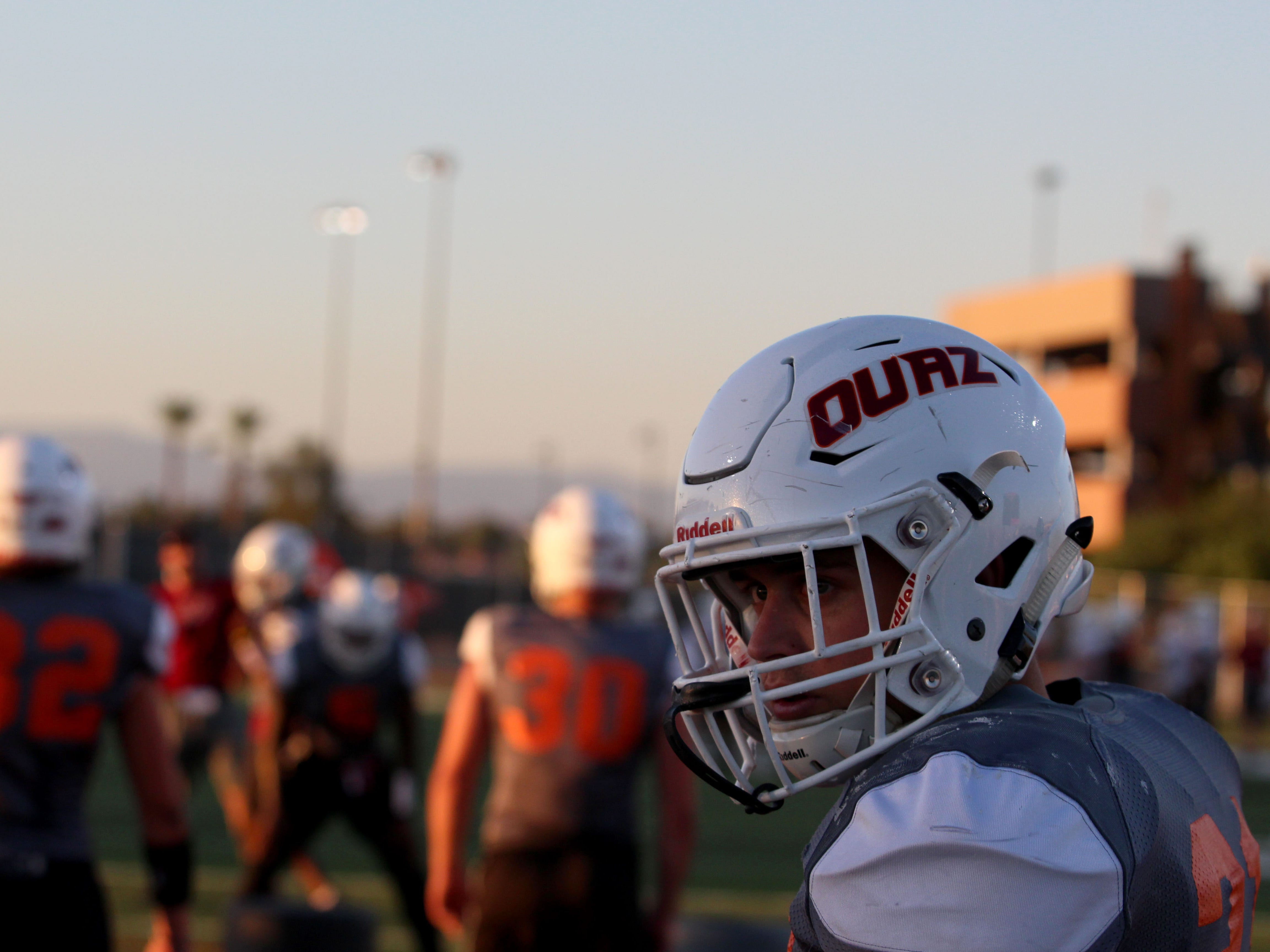 OUAZ players practice on Tuesday night in Surprise on Sept. 11, 2018 for its second home game against Oklahoma Panhandle State.