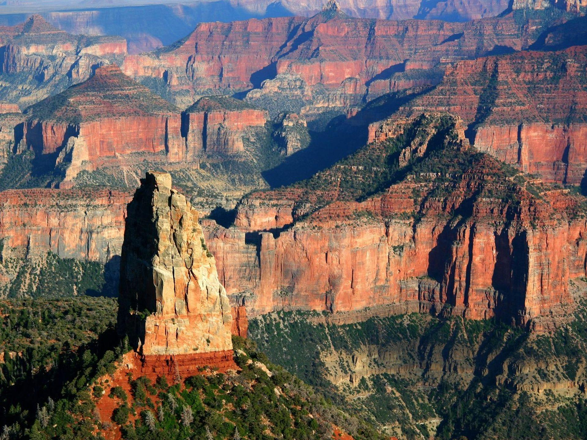 La vista desde Point Imperial, el punto más alto en el North Rim a 8,803 pies.