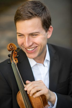 Violinist Jimmy Thompson, a graduate student at the Cleveland Institute of Music, will join pianist Jonathan Mak for a concert to kick off the Musical Arts Series new season.