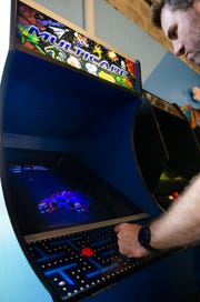 An arcade cabinet at Sloop Brewing Company at The Factory in East Fishkill.