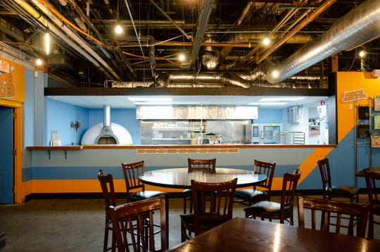 The dining area at Sloop Brewing Company at The Factory in East Fishkill.