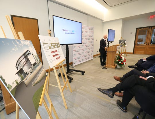 HealthQuest CEO Robert Friedberg speaks during the announcement of the Marist HealthQuest Medical School on Sept 12, 2018.