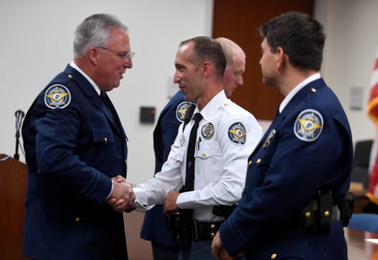 Deptuies Recognized During Promotion And Award Ceremony