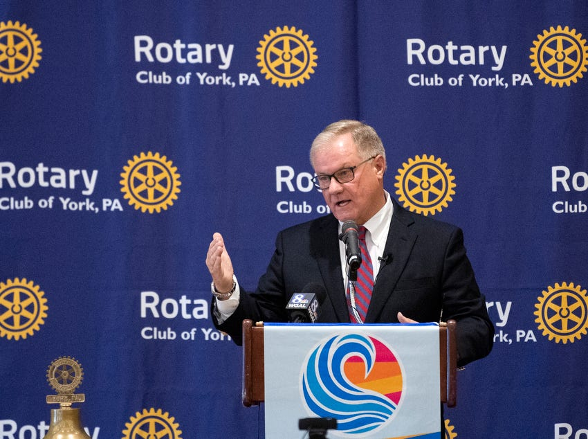 Former state Sen. Scott Wagner speaks to the Rotary Club of York at the Country Club of York on Wednesday, September 12, 2018. The Republican spoke about the opioid epidemic and education, along with his blue-collar roots. Wagner is campaigning against incumbent Gov. Tom Wolf, a Democrat, also of York County.