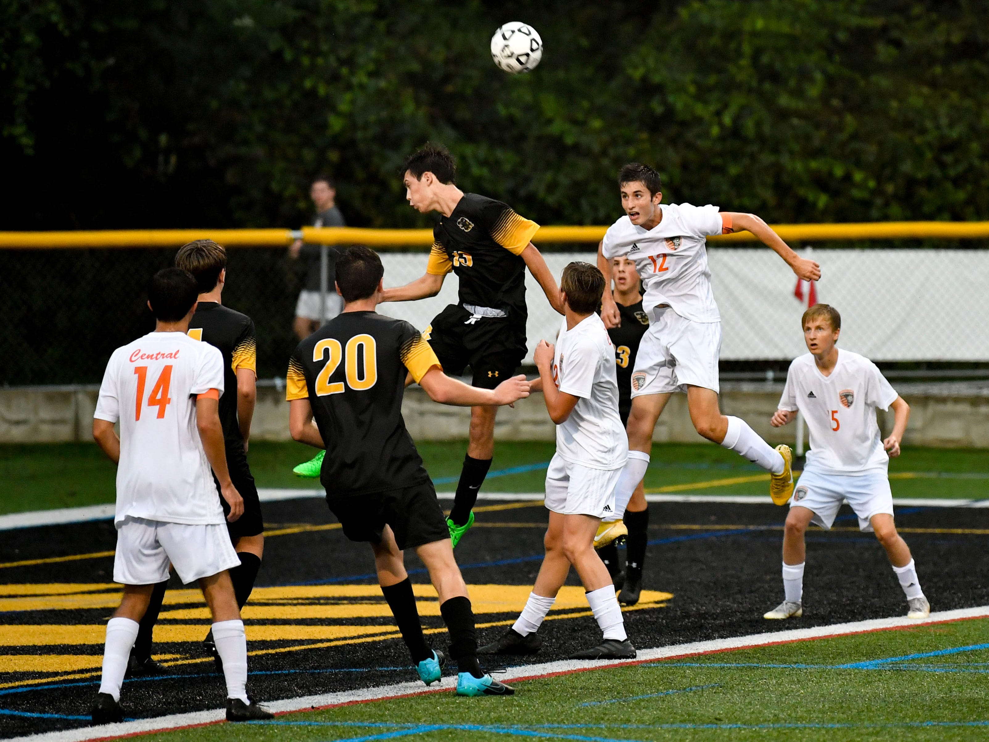 Central York tries to capitalize on the cross opportunity during their game against Red Lion.