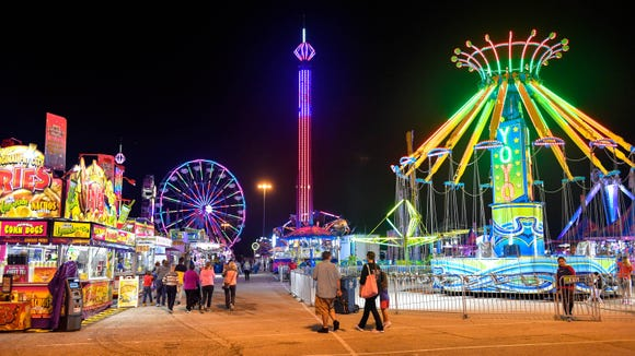 The lights from York Fair can be seen for miles. This scene came from Tuesday, September 11.