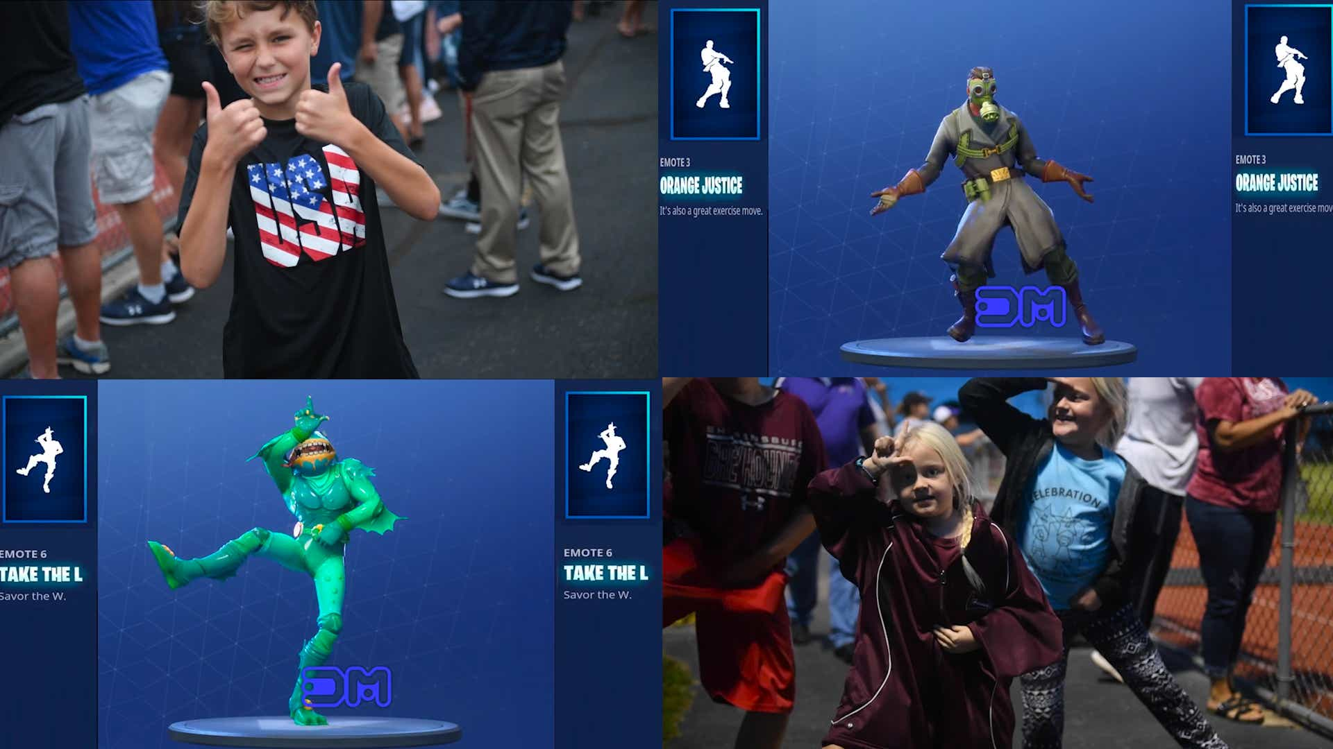 Fortnite Cape fortnite dances: see these kids try jubilation, hype and more