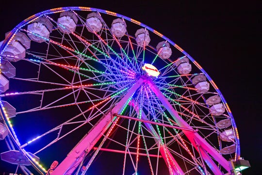 The towering Ferris wheel provides unparalleled views of the 2018 York Fair. The annual tradition of fun, food and entertainment wraps up Sunday, with gates opening at 11 a.m.