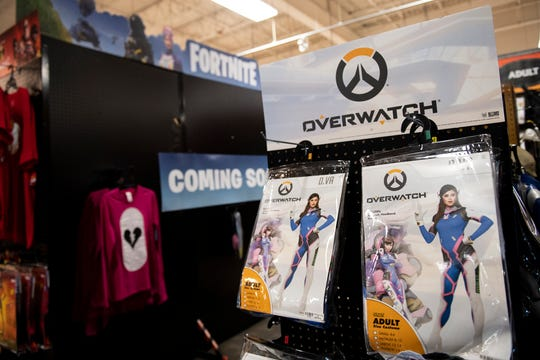 Video-game themed costumes have been a big seller so far this season, according to a representative with Spirit Halloween stores.