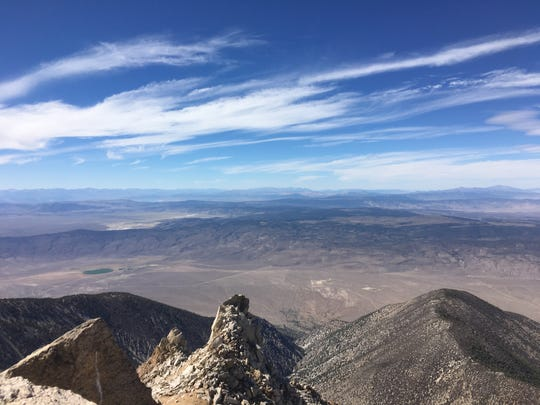 View from Boundary Peak, Nev., as seen on Sept. 9, 2018.