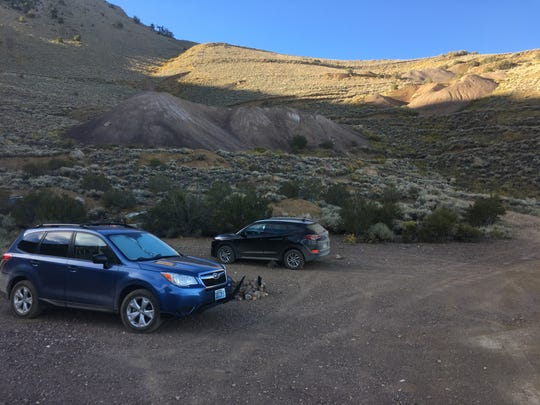 Parking at Queen Mine near Boundary Peak on Sept. 9, 2018.