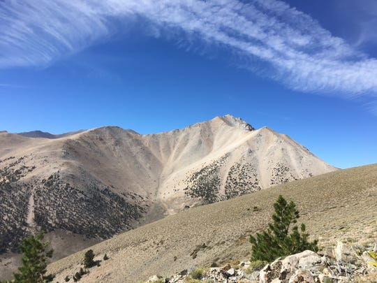 Boundary Peak at 13,140 feet is the highest point in Nevada. Shown on Sept. 9, 2018.
