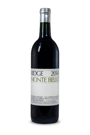 Ridge Monte Bello, named America's greatest cabernet sauvignon in 2016, is the flagship pour at a Sept. 25 Ridge Vineyards wine dinner at Atlantis Steakhouse.