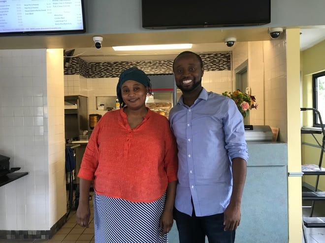 Sister-and-brother duo Naima and Mohammed Ahamed ran Akwaaba Restaurant.