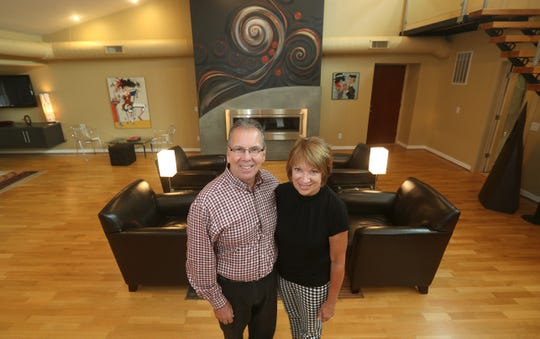 Richard and Karen Doyle in their Jay Street loft.